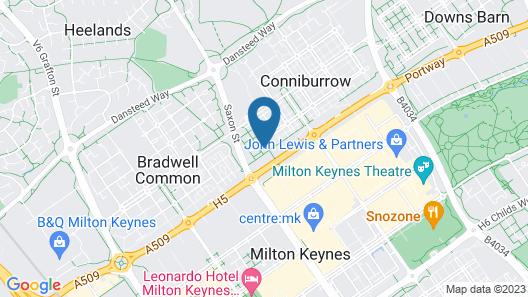 32 Central Milton Keynes Rooms Map