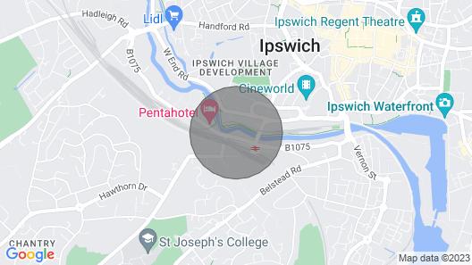 Vetrelax Ipswich Centrum Apartment Map