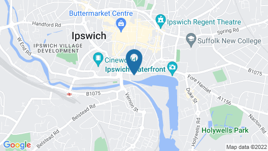 Toothbrush Apartments - Ipswich Quayside Map