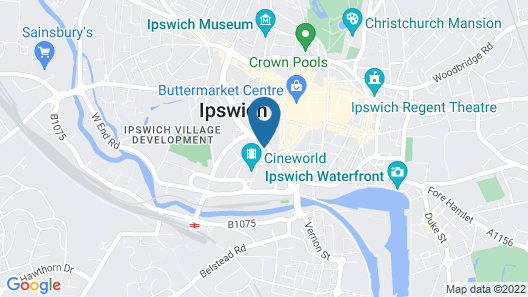 Toothbrush Apartments - Ipswich Waterfront - Cardinal Lofts Map