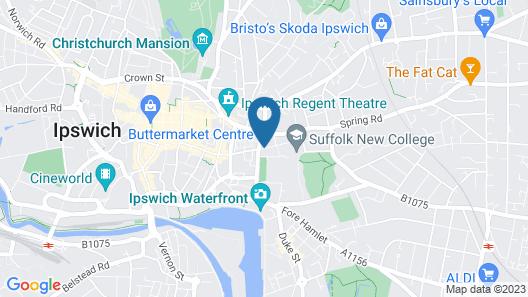 Massive 2bd Central Ipswich Map