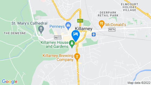 The International Hotel Killarney Map