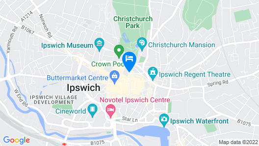 easyHotel Ipswich Map