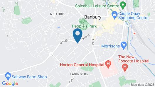 Banbury Cross B&B Map