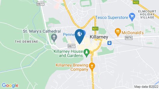 Eviston House Hotel Map