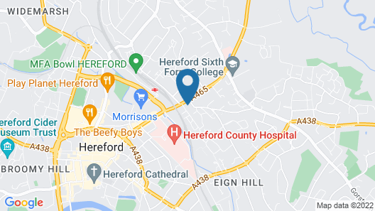 Aylestone Court Hotel Map