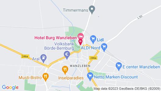 Hotel Burg Wanzleben Map