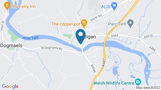 Cardigan Castle - Self Catering lets Map