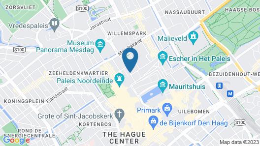 easyHotel The Hague City Centre Map