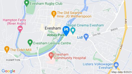 The Northwick Hotel Map