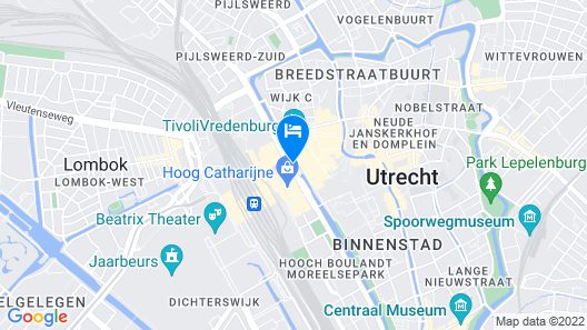 Crowne Plaza Utrecht - Central Station Map