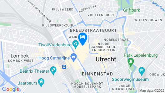 Apollo Hotel Utrecht City Centre Map