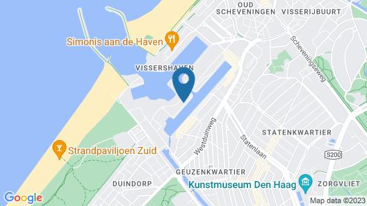 BizStay Harbour Scheveningen Apartments Map