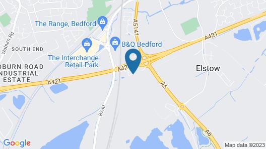 Holiday Inn Express Bedford Map