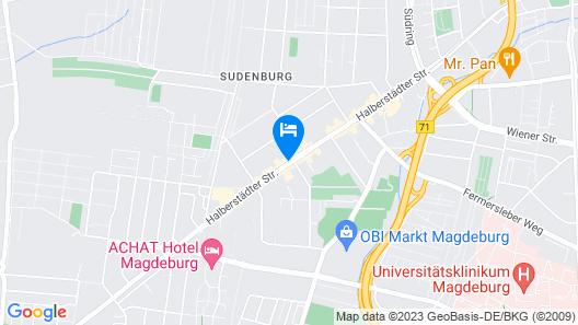 Mercure Hotel Plaza Magdeburg Map