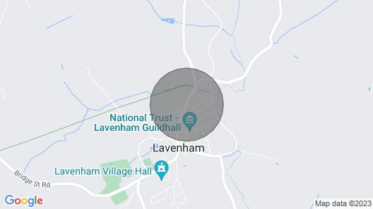Rose Cottage, Lavenham Map