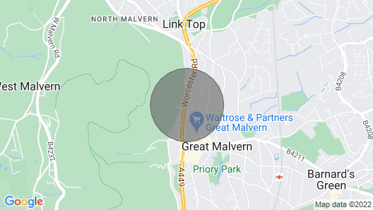 2 Bedroom Accommodation in Great Malvern Map