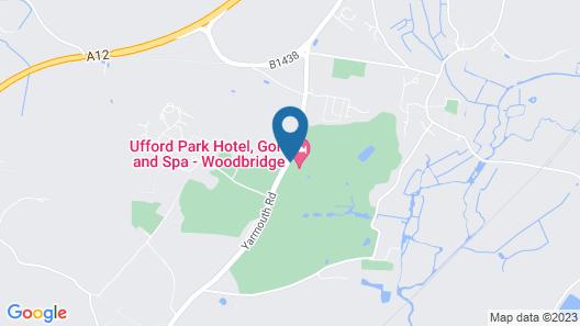 Ufford Park Woodbridge Hotel, Golf & Spa Map