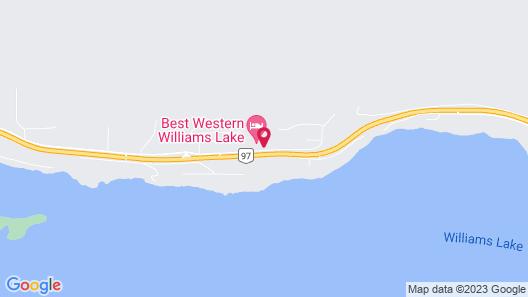 Best Western Williams Lake Hotel Map