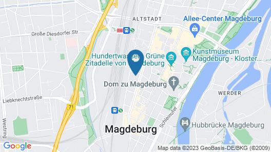 B&B Hotel Magdeburg Map