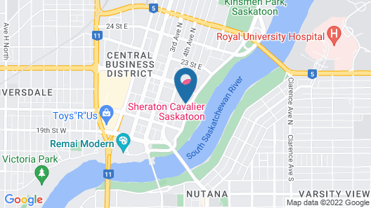 Sheraton Cavalier Saskatoon Hotel Map