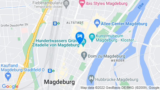 artHotel Magdeburg Map