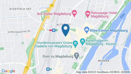 Maritim Hotel Magdeburg Map