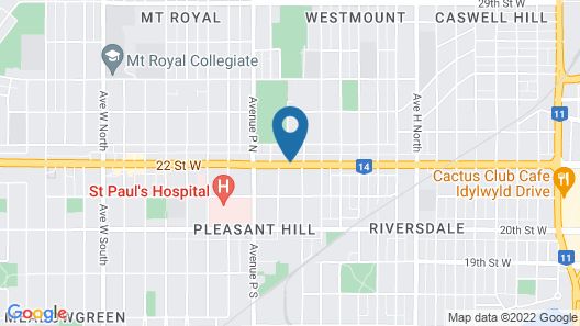 Super 8 by Wyndham Saskatoon Near Downtown Map