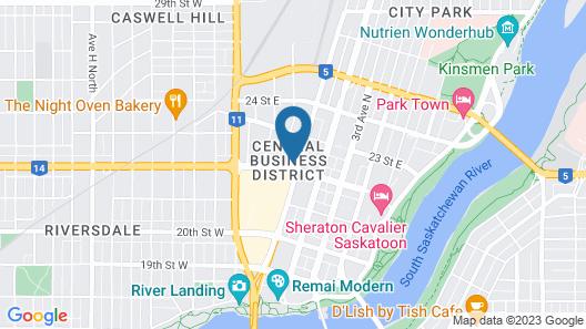 Hilton Garden Inn Saskatoon Downtown Map
