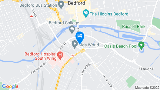 Snapos Luxury Serviced Apartments Meridian House - Bedford Map