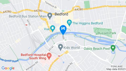 Mercure Bedford Centre Hotel Map