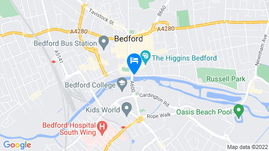 Bedford Swan Hotel Map