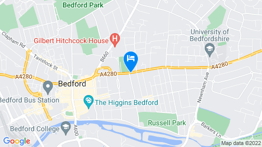 Modern Bedford Blues Apartment Map