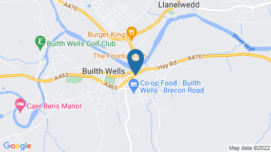 Lion Hotel Builth Wells Map