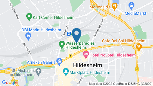 B&B Hotel Hildesheim Map