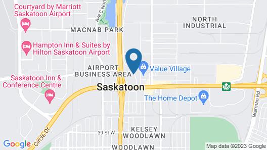 Comfort Inn Saskatoon Map
