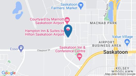Hampton Inn and Suites Saskatoon Airport Saskatchewan Map