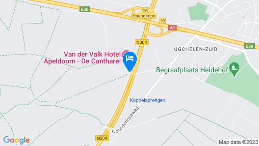 Van der Valk Hotel Apeldoorn - De Cantharel Map