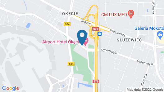 Airport Hotel Okecie Map