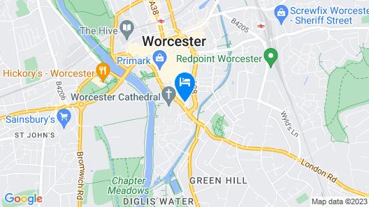 Ye Olde Talbot Worcester by Greene King Inns Map