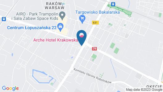 Arche Hotel Krakowska Map