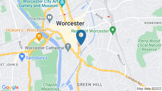 Fownes Hotel Worcester Map