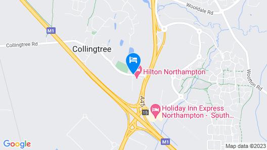 Hilton Northampton Map