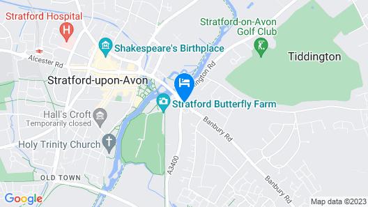 Macdonald Alveston Manor Hotel & Spa Map