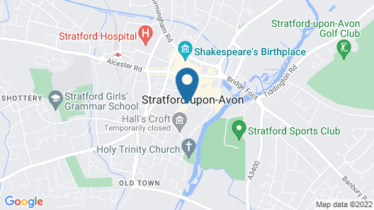 Mercure Stratford-upon-Avon Shakespeare Hotel Map