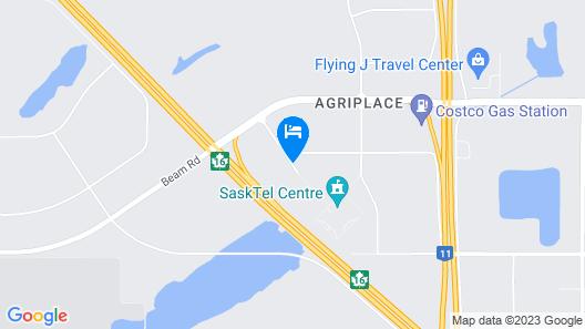 Comfort Suites Saskatoon Map