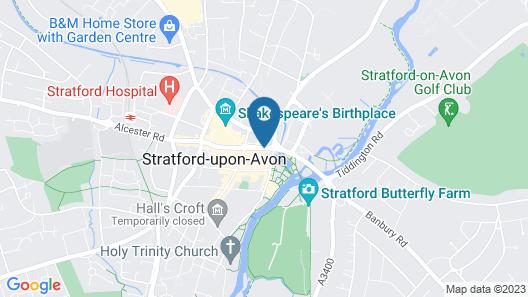 Amazing Narrow Boat Stratford-on-avon, River Avon Map