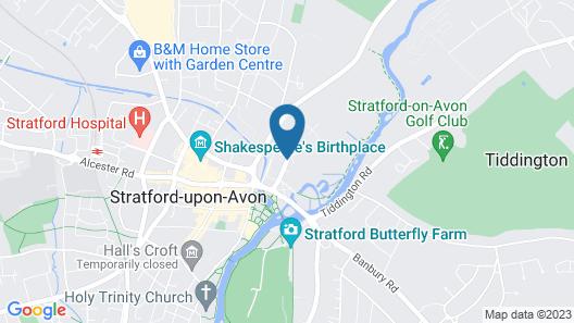 Crowne Plaza Stratford Upon Avon Map