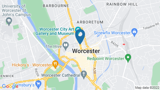 Worcester Whitehouse Map