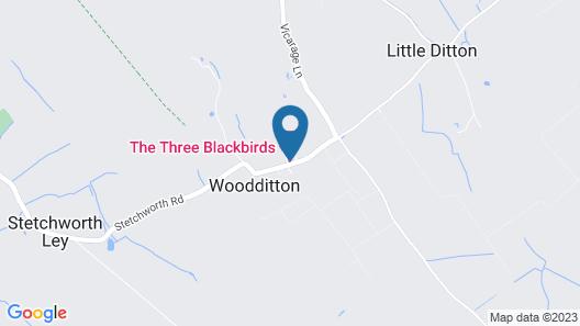 The Three Blackbirds Map